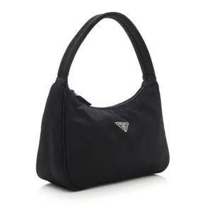 Prada Tesutto Nylon Mini Pochette Evening Bag EUC